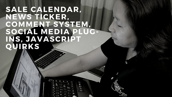 Lesson 8- Calendar, News Ticker, Comment System, Social Media Plug-ins, JavaScript quirks